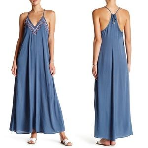 Lovestitch maxi dress gauze embroidered medium